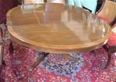 386: REGENCY STYLE MAHOGANY DINING TABLE & 6 CHAIRS