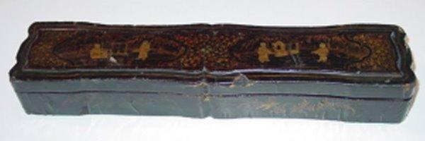 519: DECORATIVE ARTS. 19TH C. CHINESE LACQUERWARE BOX