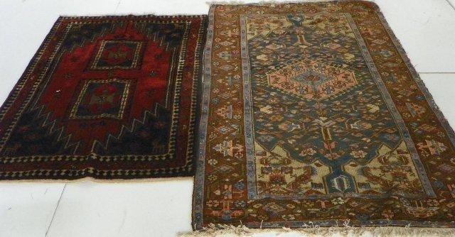 5: 2 Hamadan rugs