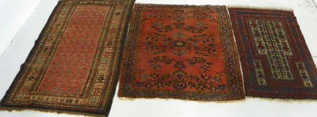 8: 3 antique Persian scatter rugs