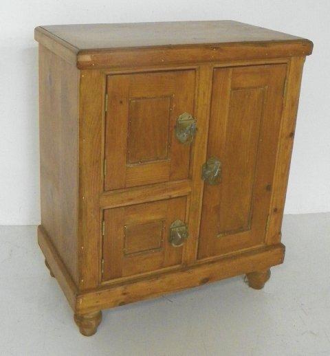 72: 3 door pine ice box