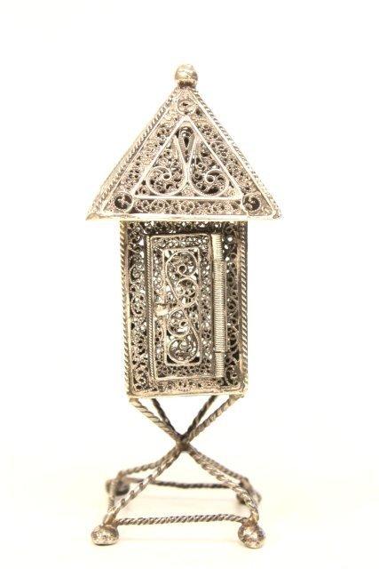 255: Judaica silver spice box