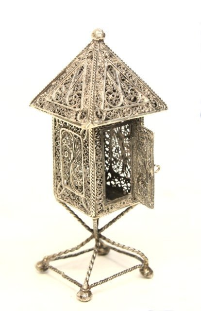 255: Judaica silver spice box - 3