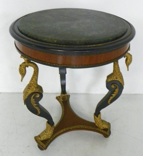 313: Marble top round center table