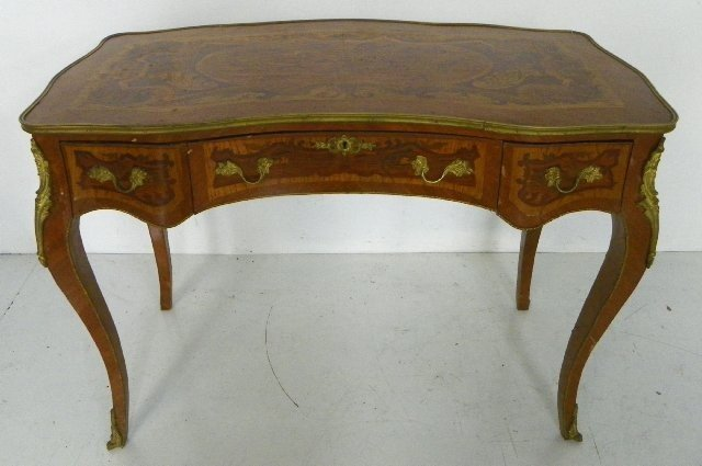 314: French style bronze mounted writing desk