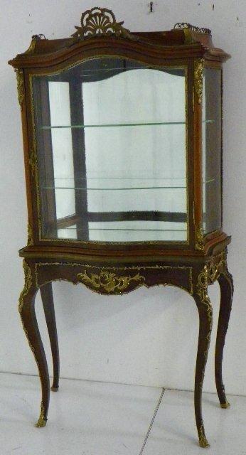 323: French bronze mounted  vitrine / curio