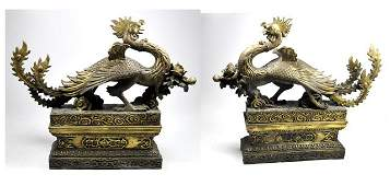 563 Pair bronze figural bookends