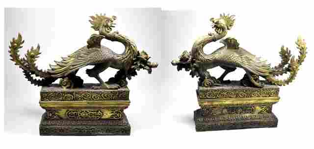 563: Pair bronze figural bookends