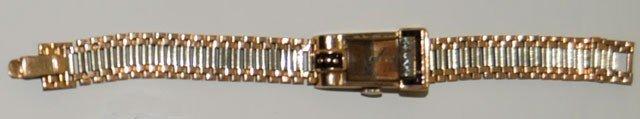 1001: Art Deco gold, diamond & ruby ladies wrist watch