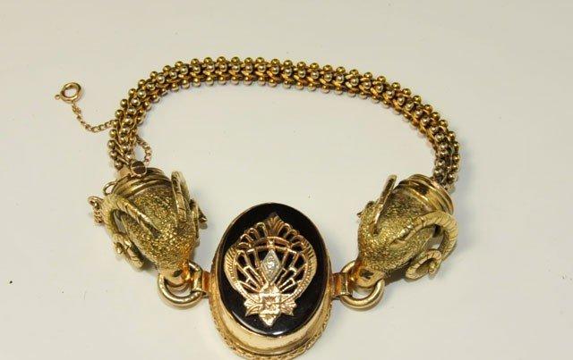 1003A: Victorian14kt yellow gold bracelet