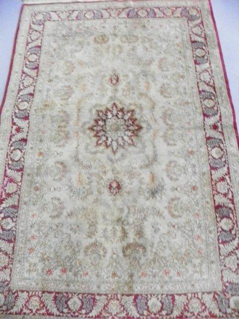 2: Kashan rug with center medallion