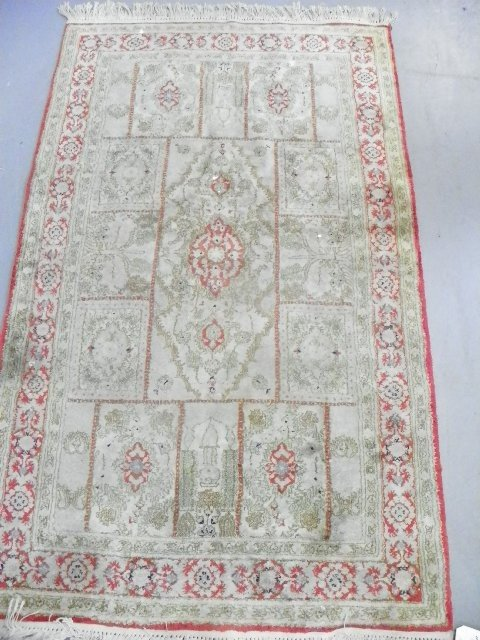 3: Scatter rug with silk