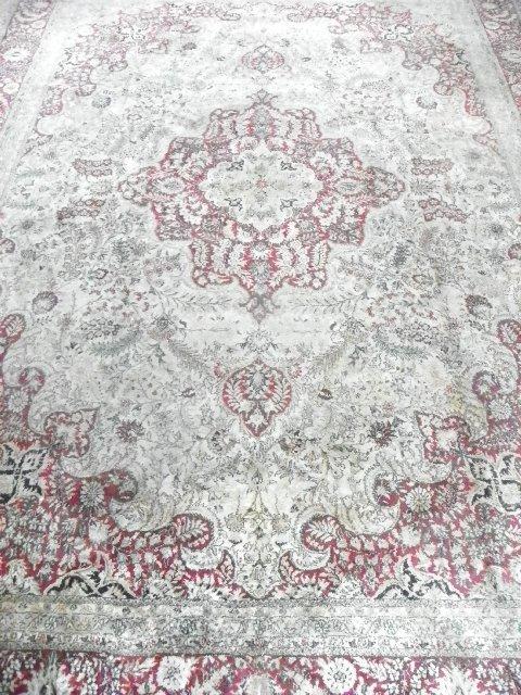 7: Red center medallion rug
