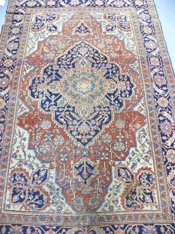 19: Antique Ferrahan Sarouk Persian rug