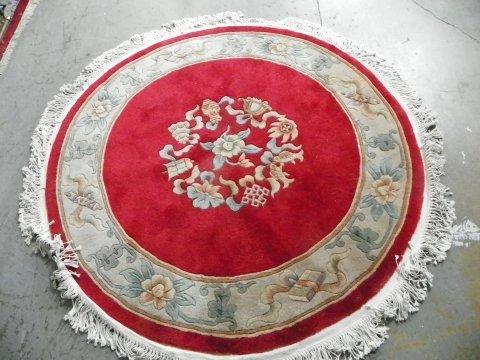 20: Chinese round red rug