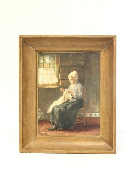 """209: """"Rozenburg"""" Dutch tile plaque"""