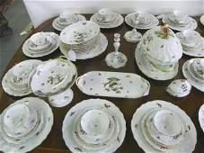 415 Rothschild Bird Herend China dinnerware set