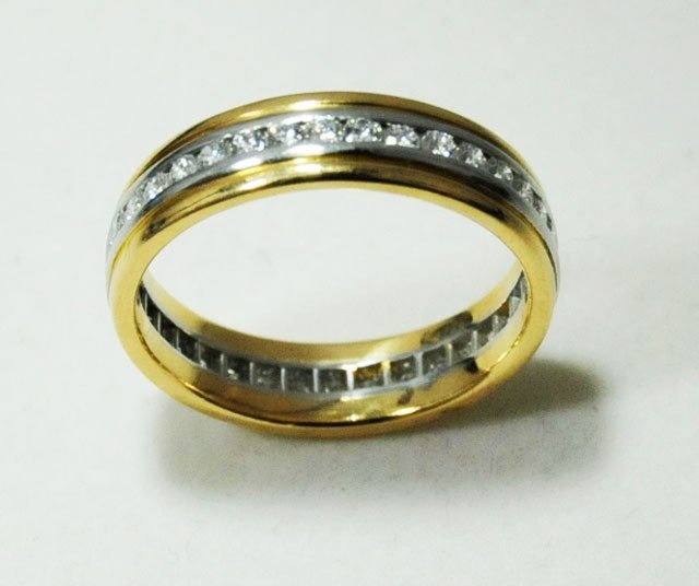 1008: Tiffany gold & diamond eternity band