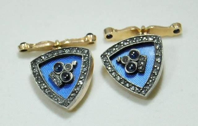 1011: Diamond triangle cufflinks