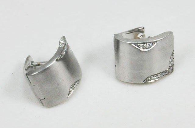 1014: H. Stern white gold & diamond earrings