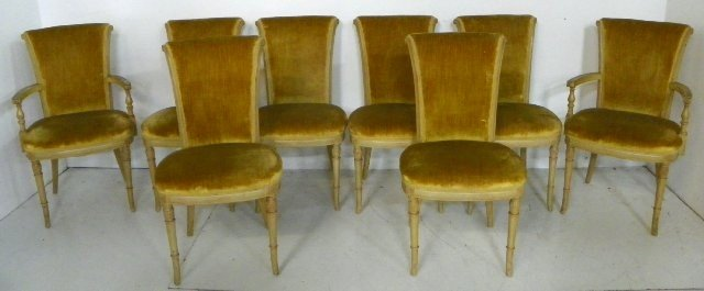 1129: Set of 8 Regency style chairs
