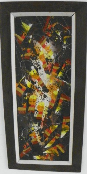 Abstract Oil Painting Signed Stenack