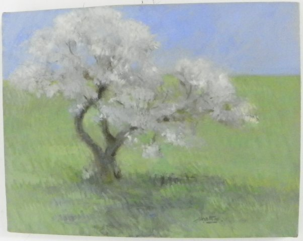 "1291: Oil painting ""Impressionistic Landscape"""