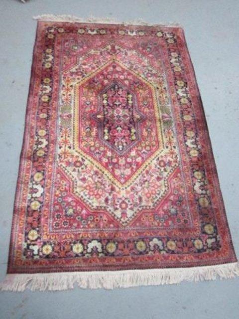 8: Red, black & ivory Kermin carpet