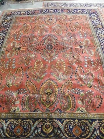 10: Red Sarouk rug