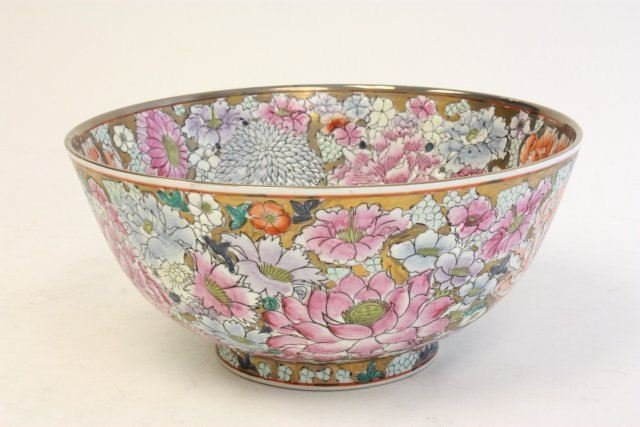 27: Chinese porcelain floral bowl