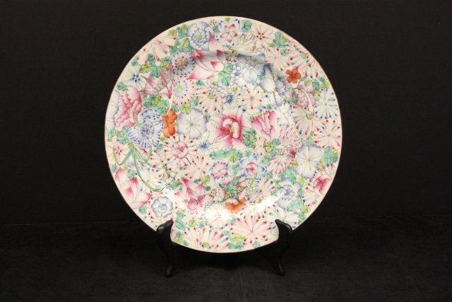 29: Floral porcelain enamel plate with Guangxu plate
