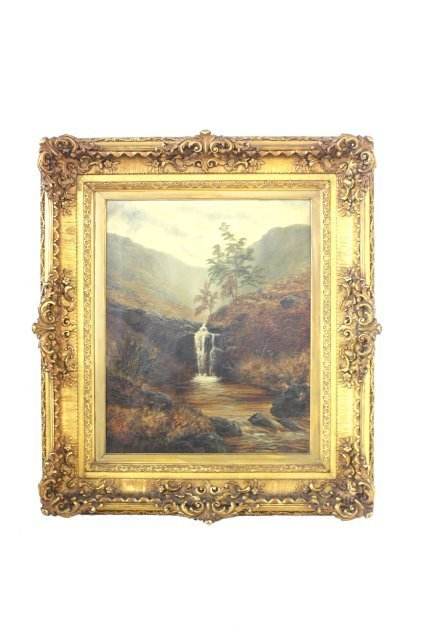 520: 19th c. landscape oil painting by William Mellor