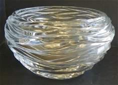 940: Tiffany & Co. handblown crystal bowl