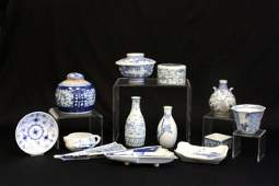 1049 Group lot of Chinese blue  white porcelains