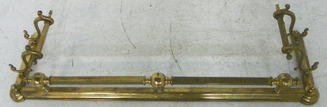 21: Brass fireplace fender