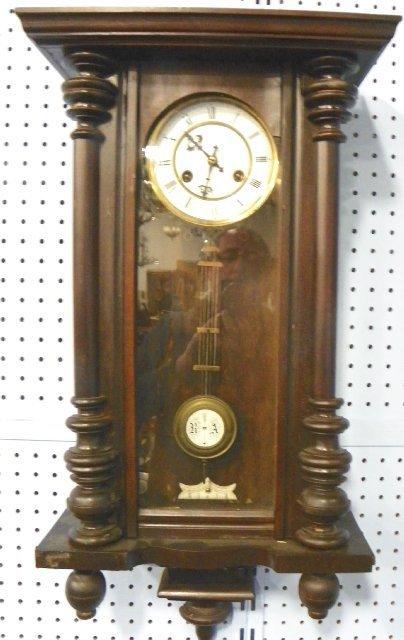 32: Mahogany Unghans wall clock