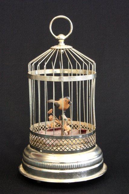 38: Bird cage automaton music box