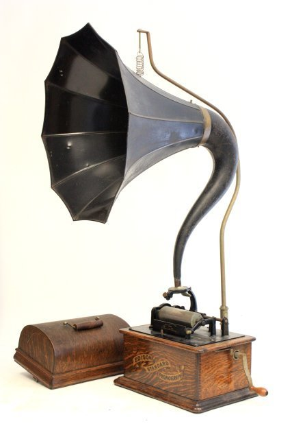 "181: Oak Edison standard phonograph ""Reproducer"""
