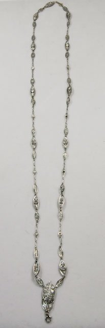 1016: Diamond encrusted 18kt or platinum necklace