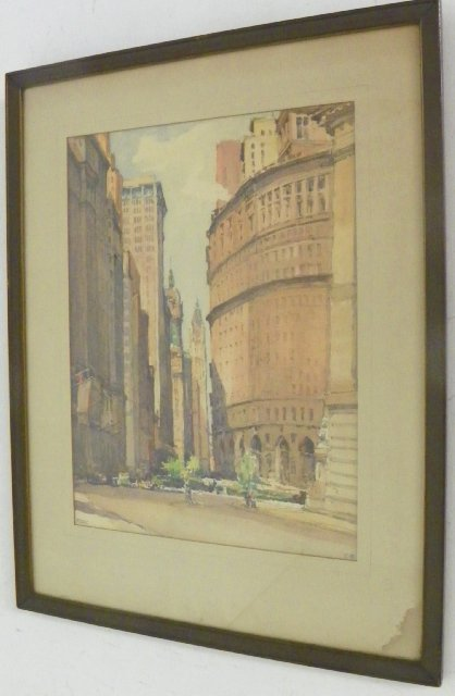 1205: Pair framed watercolors signed Marc - 3