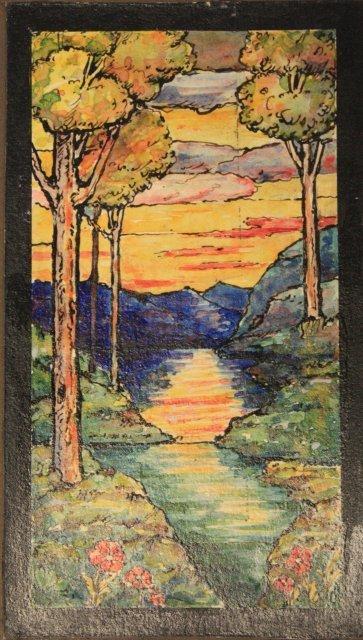 1207: 5 prototype watercolors for Tiffany Windows - 4