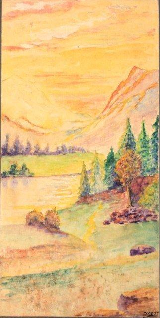 1207: 5 prototype watercolors for Tiffany Windows - 5