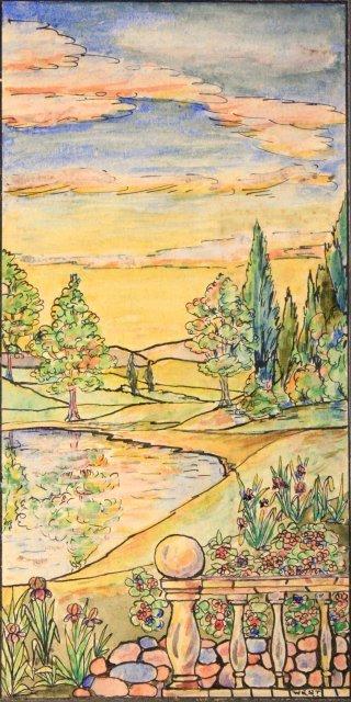 1207: 5 prototype watercolors for Tiffany Windows - 6