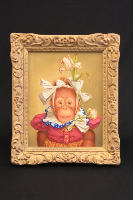 "1295: Donald Roller Wilson ""Cookie,"" oil painting"