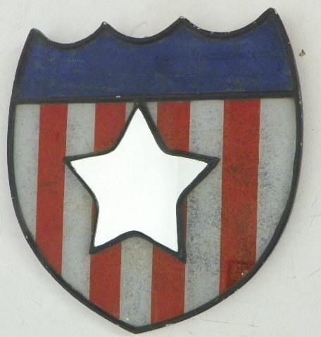 24: American shield form red, white & blue mirror