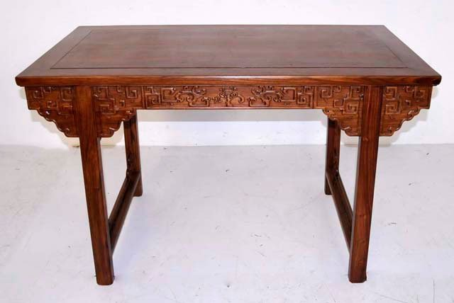 967: Chinese Huanghuali wistless side table
