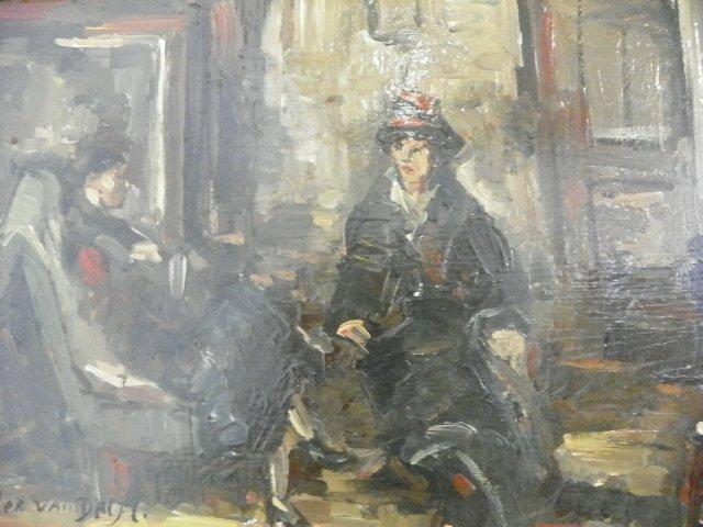 "1247: Oil painting by Peter Van Delft ""Interior Scene"" - 2"