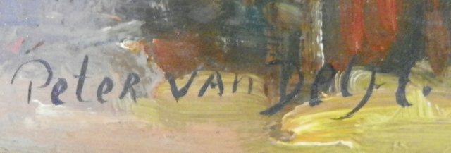 "1247: Oil painting by Peter Van Delft ""Interior Scene"" - 3"