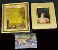 1292: 3 19th c. paintings