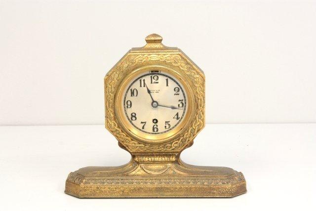 252: Tiffany Studios bronze clock